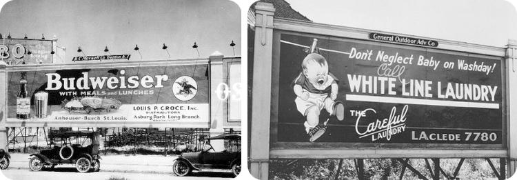 Valla publicitaria y Monoposte 1920