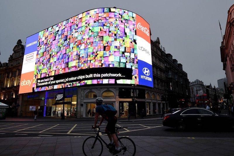 pantalla electronica en Londres